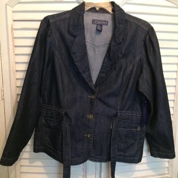29e1d4b17a1a0 New Baccini 2x denim jacket w belt